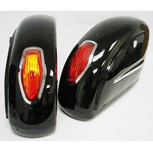 Alforjas Rigidas Con Luces Para Motocicletas Touring Cruiser