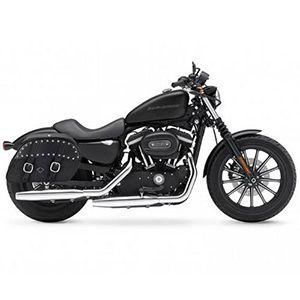 Alforjas Universales Large Shock Cutout Slanted Studded Para Motocicleta