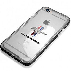 Funda Transparente Con Marco De Aluminio Con Logo Mustang Tri-Barra Para IPhone 6 / 6S