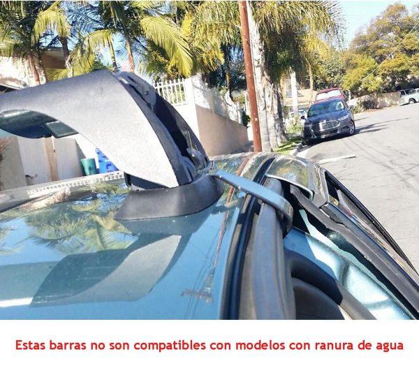 Barras Portaequipaje Transversales Universales Para Autos Sedan 4 Puertas