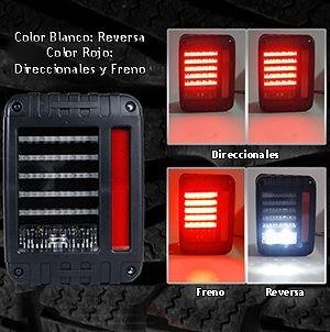 Calaveras LED Y Tercera Luz De Freno Jeep Wrangler JK 2007-2017