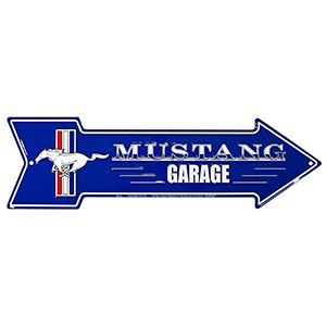 Letrero Flecha De Metal Ford Mustang Para Garage