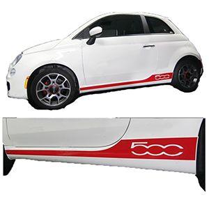 Tiras Para Paneles Laterales Para Fiat 500 2007-2014