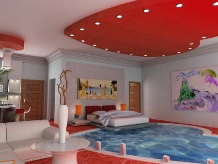 Yatak Odası Tavanlar 2015 lüks dekorasyon ve tasarımlar (2)