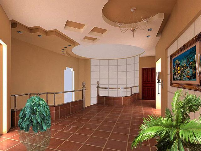 Tavan, oda ve salonların alçı şekillerinin resimleri (1)