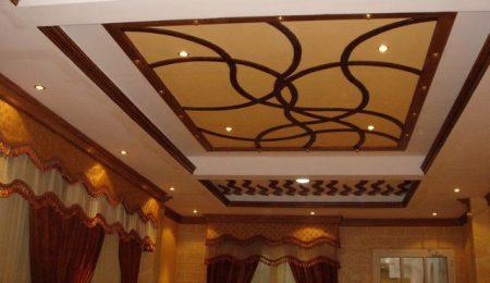2017 oturma odası için alçı asma tavan tasarımı
