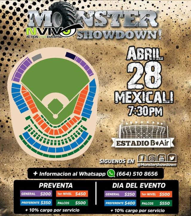 precios monster showdown 2018