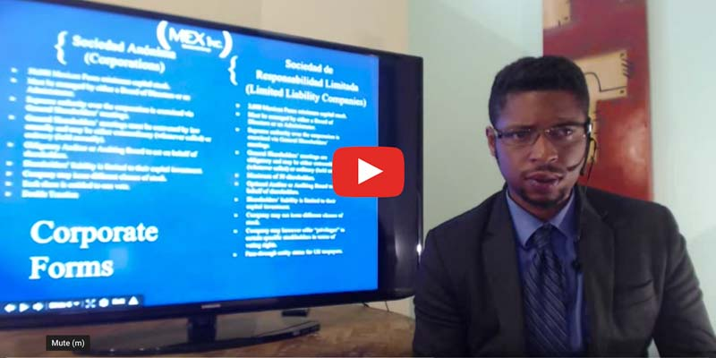 Basics off LLCs in Mexico video link