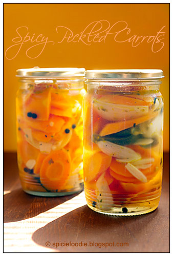 Zanahorias en Escabeche or Mexican Spicy Pickled Carrots