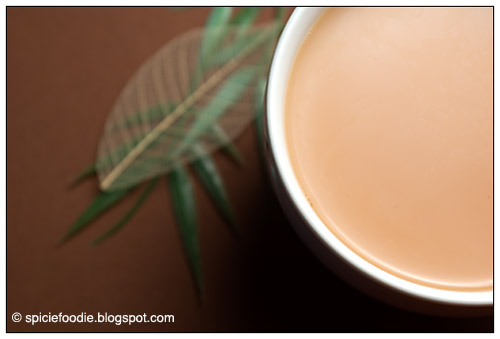 Tea with Almond Milk; non separating; no separate; no curdeling; stop from separating
