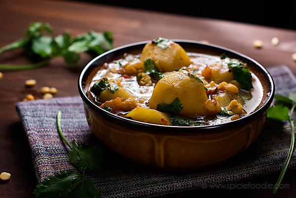 #Potato and Yellow Split Pea #Curry Recipe (#Vegan with Meat Option) | #yellowsplitpeas #indianfood