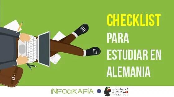 Checklist y cronograma para estudiar en Alemania - portada