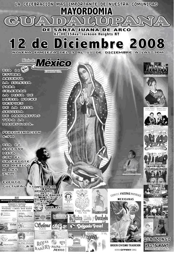 Celebracion a la virgen de guadalupe 2008