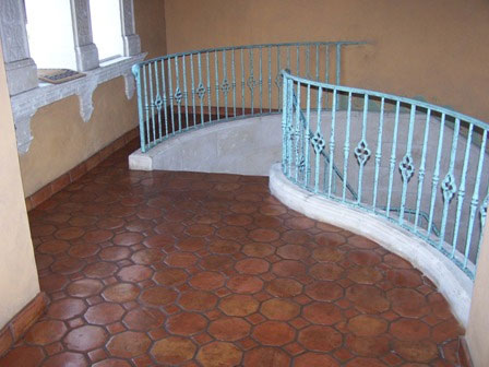 mexican tile staining saltillo tile