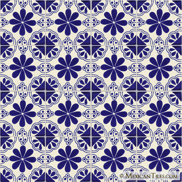 mexican tile blue isabel mexican tile