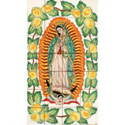 mexican tile virgin mary handpainted
