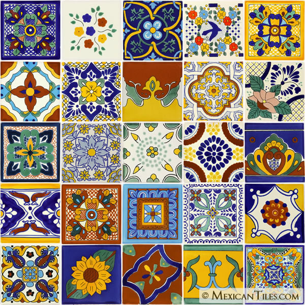 mexican tile mexican tile sets mixed