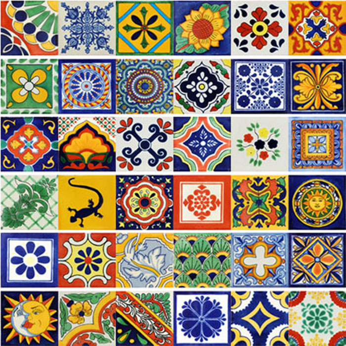 mexican tiles handmade and hand painted