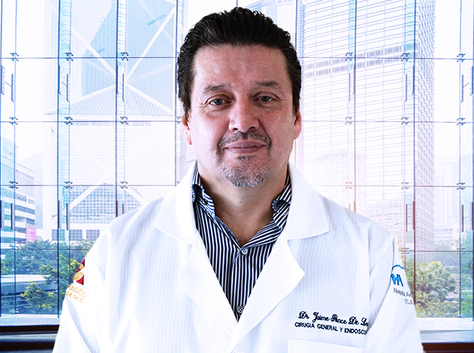 Dr. Jaime Ponce de Leon Palomares is a board certified surgeon specializing in weight loss surgery in Mexico.