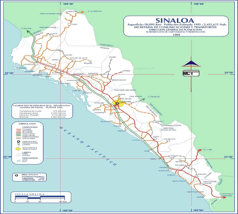 Mapa De Badiraguato Sinaloa Mexico