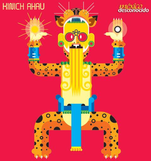 Kinich ahau, dios maya del Sol / Ilustración: Oldemar