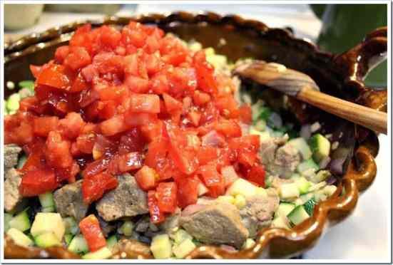 Receta de las tradicionales calabacitas con puerco
