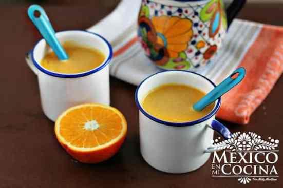 delicioso Atole de Naranja