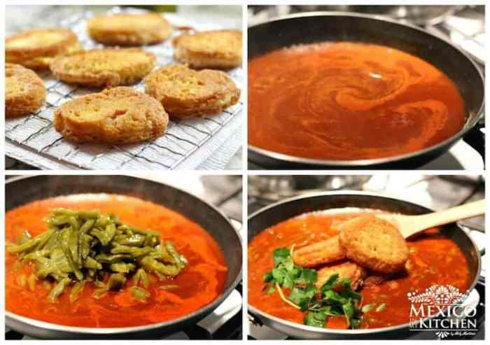 prepara esta sencilla receta y compártela con tu familia, Camarones secos en salsa roja con cactus