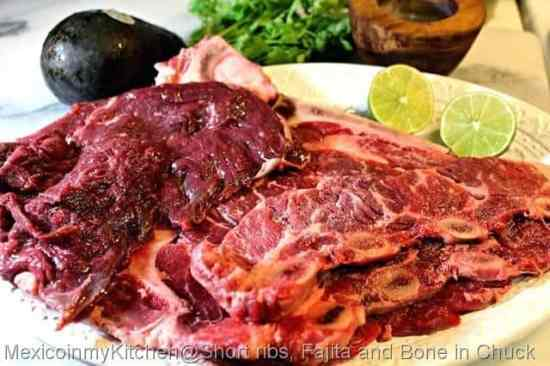 Carne Asada, ingredientes