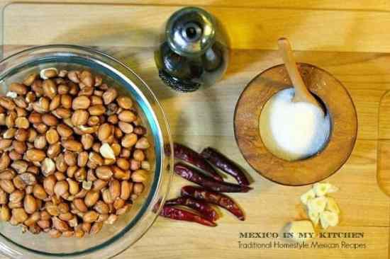 Cacahuates enchilados, ingredientes