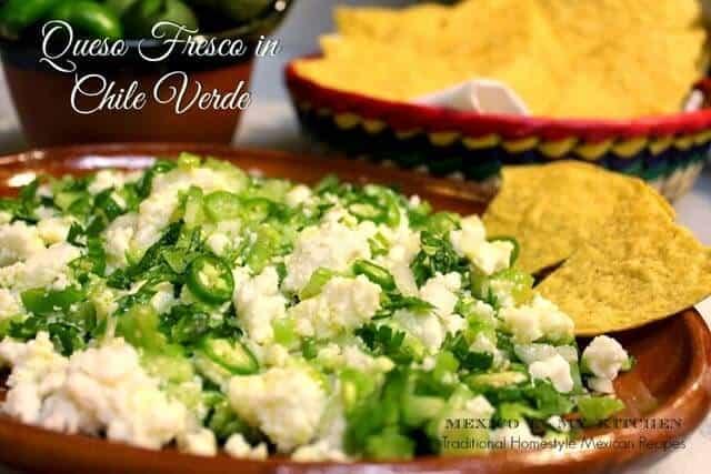 Receta Queso fresco en salsa verde