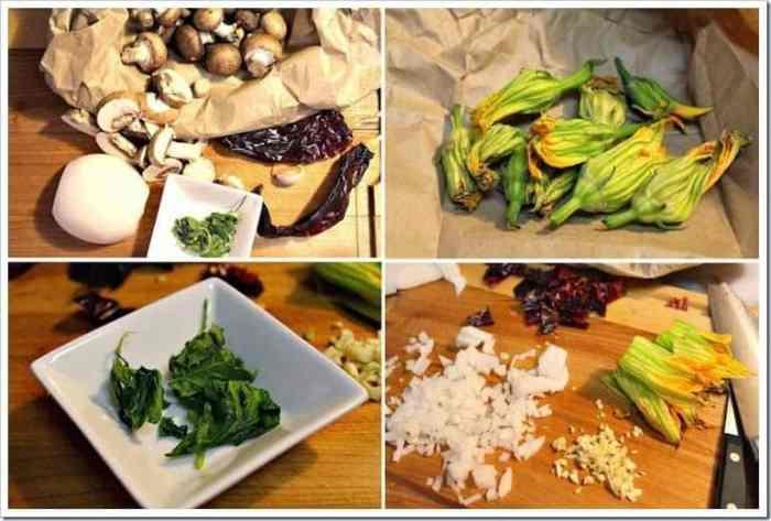 Sopa de Hongos, ingredientes