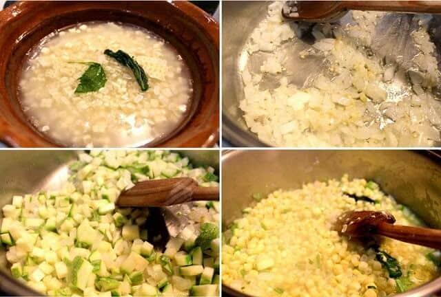 instrucciones paso a paso receta Sopa de Milpa