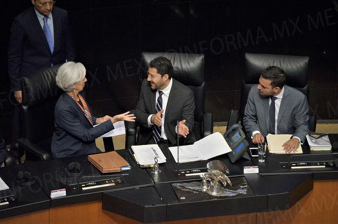 Lagarde del FMI  presenta desde el Senado recomendaciones a México