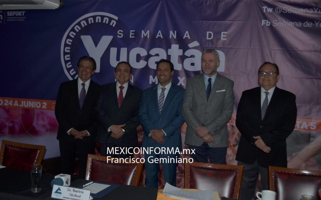 Promueve gobernador de Yucatán, Semana en la CDMX