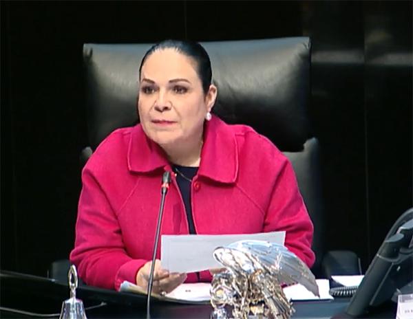 Al margen del cambio de dirigencia en MORENA,  presidenta del Senado