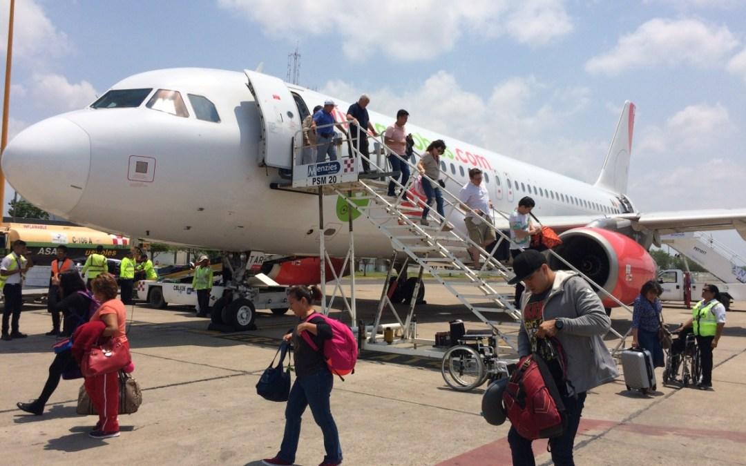 Aumentan a más de 15 millones turistas por vía aérea.