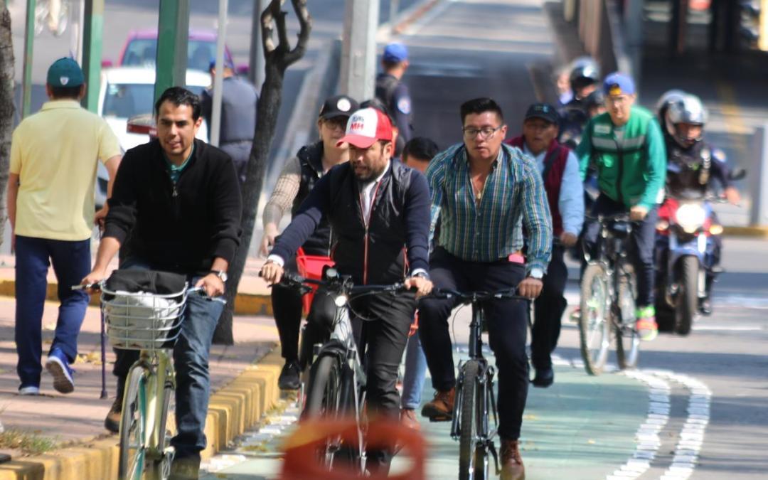 Amplía Miguel Hidalgo su red de ciclovías