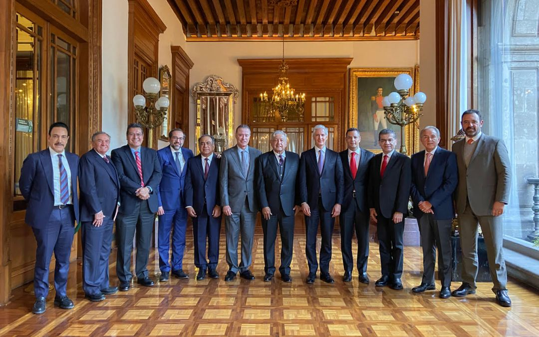 Encuentro de AMLO con los once gobernadores del PRI