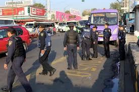 Dispositivo de seguridad en paradero Tacubaya
