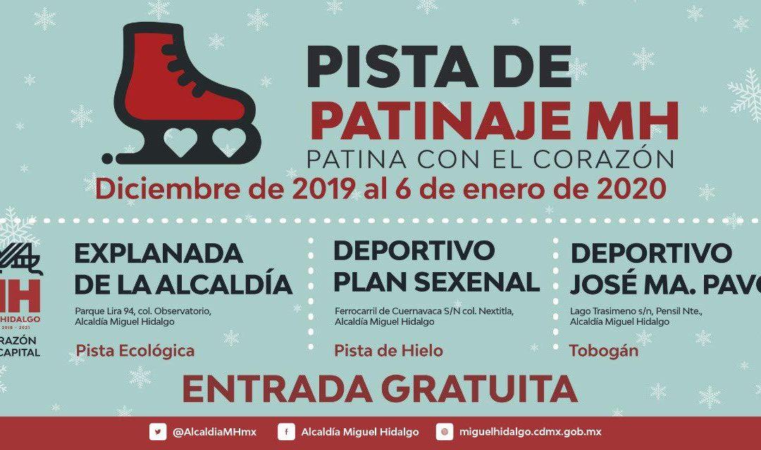 Invita Alcalde de Miguel Hidalgo a disfrutar pista de hielo hasta 6 de enero