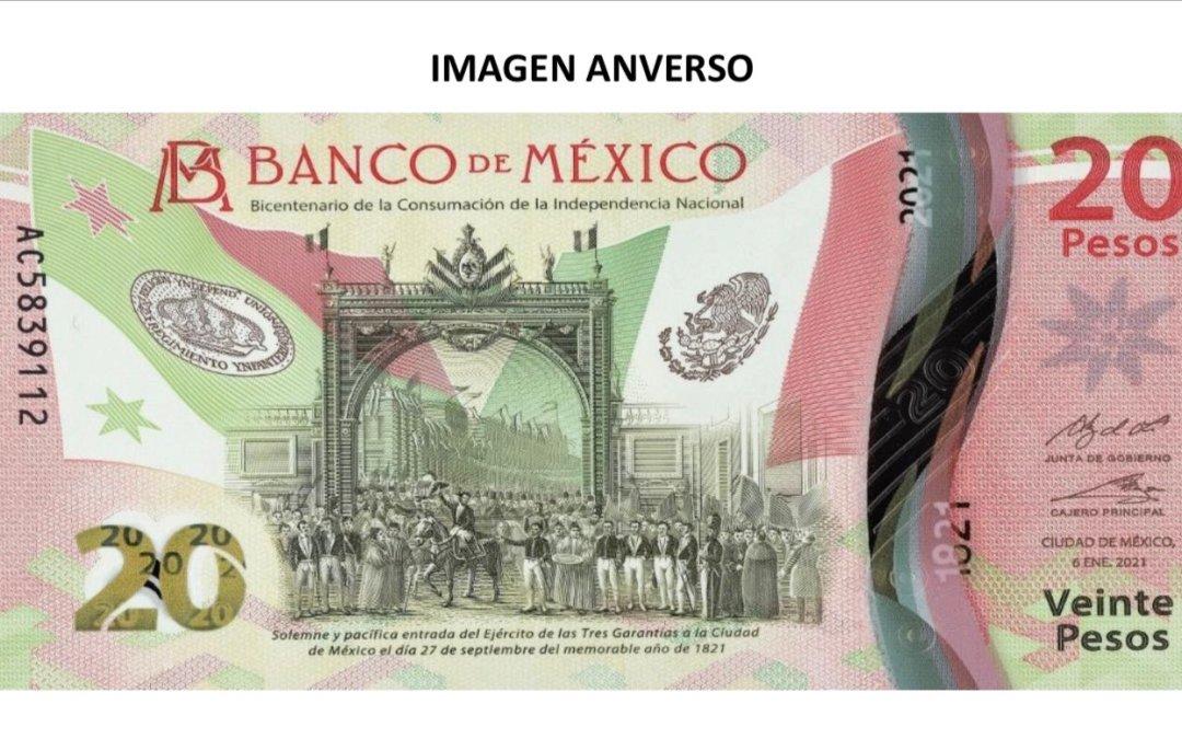 Presentan nuevo billete de 20 pesos alusivo a la Independencia