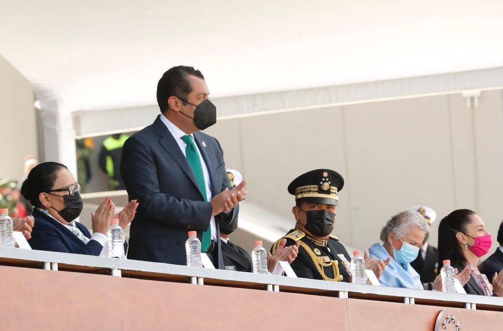 Presidente de Diputados asistió a aniversario del H. Colegio Militar