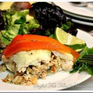 Crab & Shrimp Stuffed Fish / Filete de Pescado Relleno de Mariscos