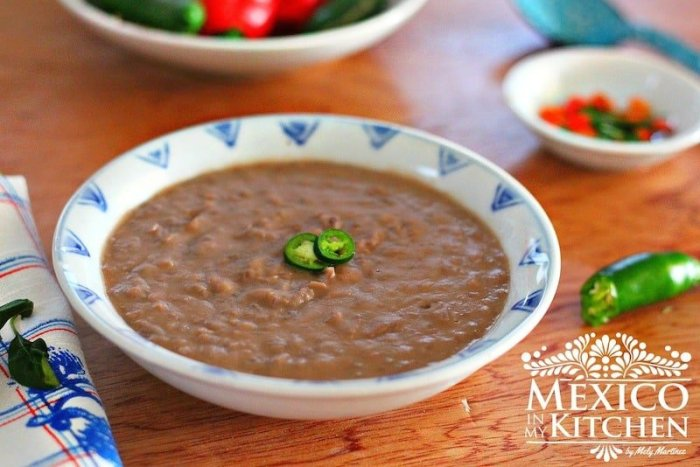 Fried pinto beans
