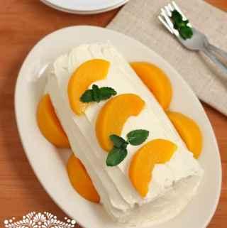 PEACH CAKE ROLL