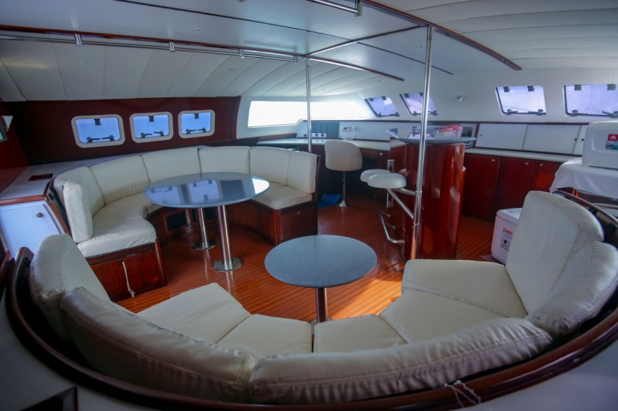 Interior  view of catamaran
