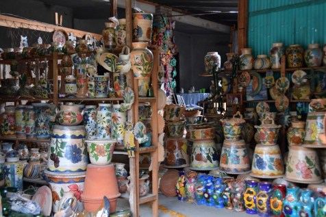 Colorful pottery for sale