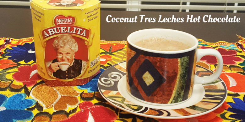 Coconut Tres Leches Hot Chocolate for Dia De Los Muertos