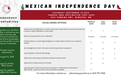 Mexican independence day Sponsorship opportunities